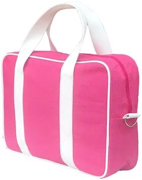 Foonty Pink Jute Laptop messenger bag