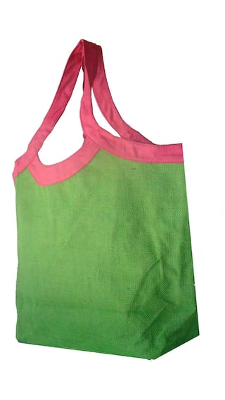 Foonty Women Solid Fabric - Tote Bag Green