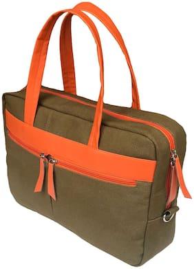 Foonty Green Canvas Laptop messenger bag