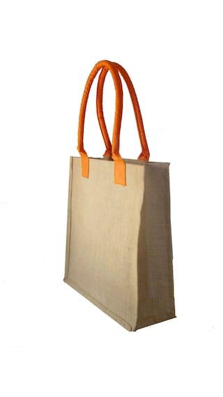 Foonty Women Solid Fabric - Tote Bag Orange