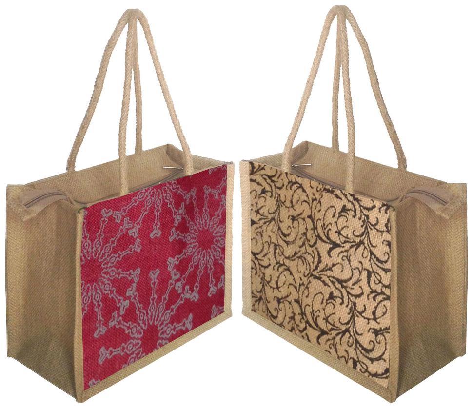 Foonty pack of 2 small jute lunch bags  FFFWB5006