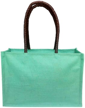 Foonty Women Solid Canvas - Tote Bag Green