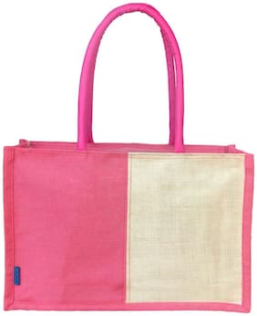 Foonty Women Solid Canvas - Tote Bag Pink