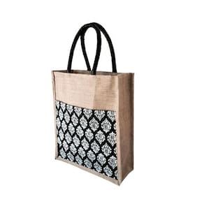 Foonty Women Solid Fabric - Tote Bag Black