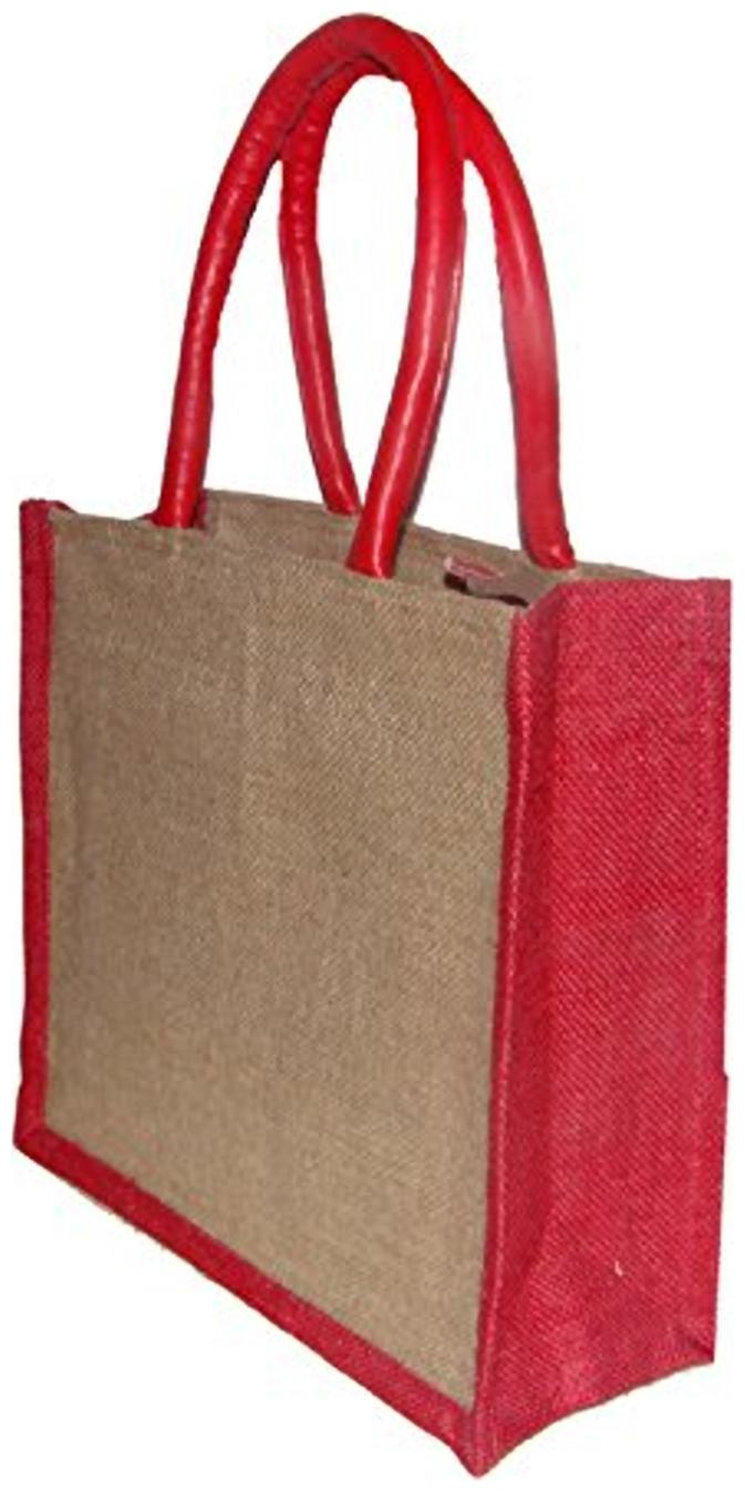 Foonty Tote Women Jute Lunch Bag fffwb5027