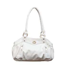 Fostelo Elite Swann White Handbag (25 Piece)