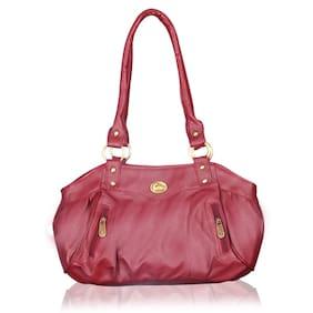 Fostelo Swann Magenta Leather Handbag (15 Piece)