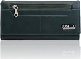 FOSTELO Women Solid PU - Clutch Green