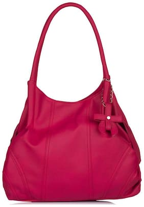 FOSTELO Faux Leather Women Handheld Bag - Pink