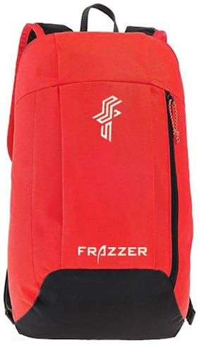 Frazzer Red Waterproof Polyester Backpack