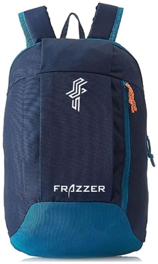 Frazzer Blue Polyester Backpack