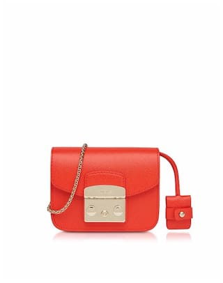 8ec9ab6060e7 Buy Furla Women Solid Leather - Sling Bag Red Online at Low Prices ...