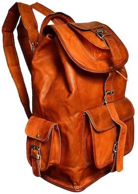 Galatea Tan Leather Backpack