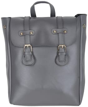 GD FASHION Grey Polyester Backpack