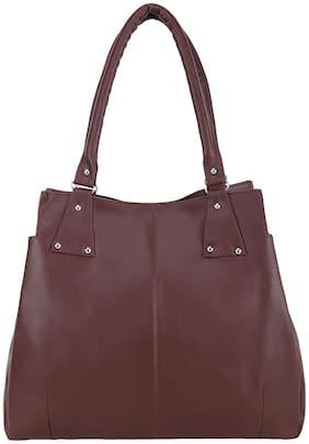 GD FASHION Brown Synthetic Shoulder Bag