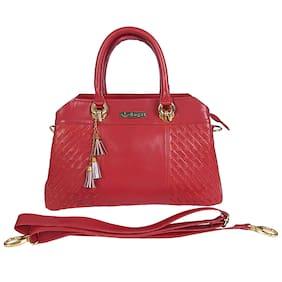 GUGALINDIA Leather Women Handheld bag - Red