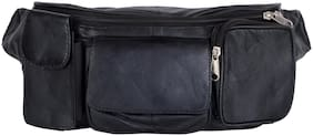 AspenLeather  Black Waist Bag