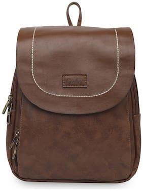 GEPACK Brown Leather Backpack
