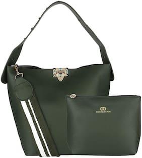 GIO COLLECTION Green PU Hobo Bag