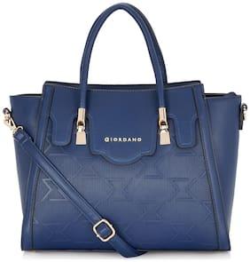 Giordano Blue PU Handheld Bag