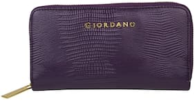 Giordano Women Purple PU Wallet