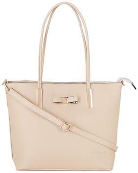 Giordano Women Solid PU - Tote Bag Beige