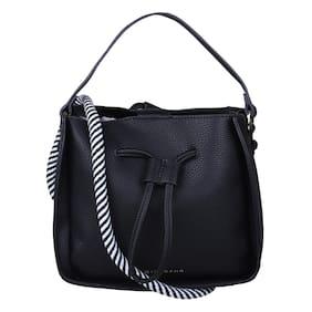 Giordano Black PU Hobo Bag - GD17A537BLK