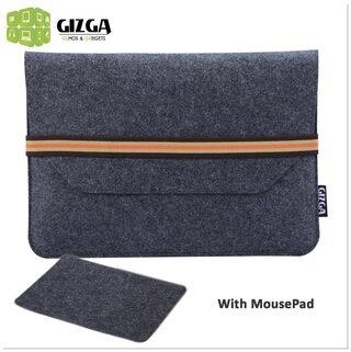 GIZGA 39.624 cm (15.6 Inch) Protective Felt Laptop Sleeve (Slate Grey)