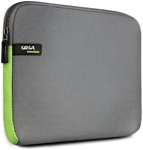 Gizga Essentials GE-14-GRY-GRN Laptop sleeve [ Up to 14 inch Laptop]