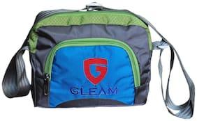 Gleam Blue Polyester Sling bag