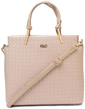 Globus Beige PU Handheld Bag - S2001YCLNSFB08-LIGHTGREY