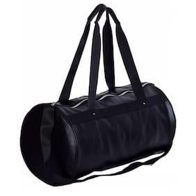 Glorist Faux Leather Men Duffle Bag Black