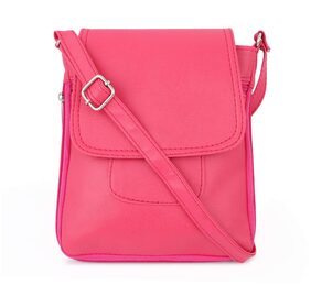 GLORIST Women Solid Leather - Sling Bag Pink