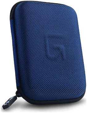 GoFree Ballistic Hard Disk Carrying Case [Rigid Shock Proof HDD Case] (Electric Blue)