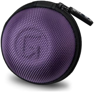 GoFree Orb Case for Earphones, Pen Drives, SD Memory Cards, Keys, Coins Etc. [ Multi Purpose Case ] Shock Proof With Ballistic Nylon (Orchid Purple)