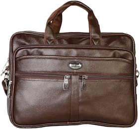 Goodwin Brown Faux leather Laptop messenger bag