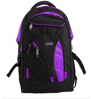 Goodluck Black Waterproof Polyester Backpack