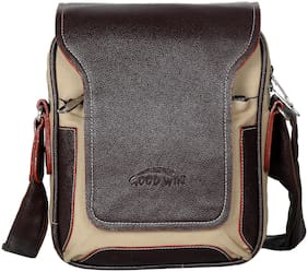 Goodwin Brown Faux leather Sling bag