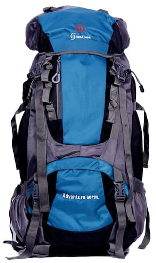 a059599b6e80 Grandiose 70L Teal Blue Hiking Trekking Camping Rucksack Backpack Bags  (GTB67001TB)