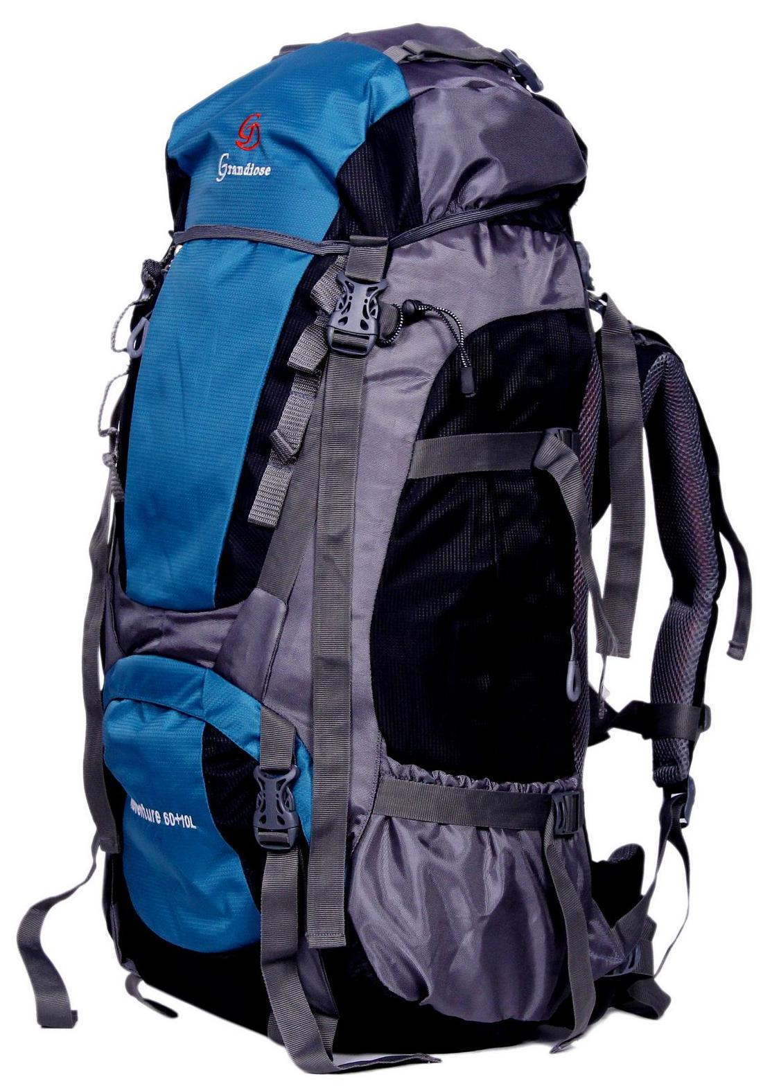 dccd8789fab3 Buy Grandiose 70L Teal Blue Hiking Trekking Camping Rucksack Backpack Bags  (GTB67001TB) Online at Low Prices in India - Paytmmall.com