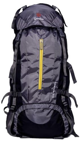 ac7016b441fd Grandiose 75L Grey Chain Model Hiking Trekking Camping Rucksack Backpack  Bags (GTB67501GY)