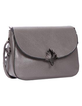 Grey PU Sling Bag