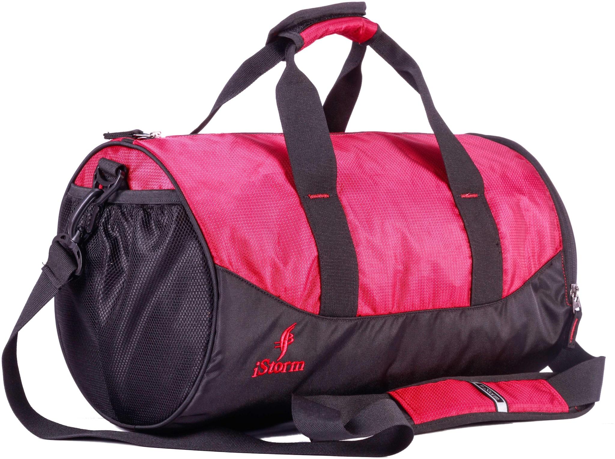 Istorm Polyester Men Gym bag   Black   Red
