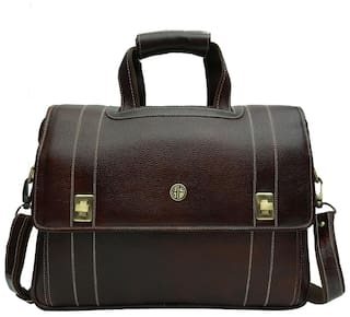 651f5be61 Hammonds Flycatcher Brown Leather 39.624 cm (15.6 Inch) Laptop cum Office  Bag