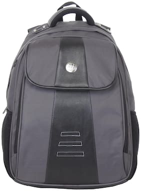 Harissons Grey Polyester Laptop Backpack