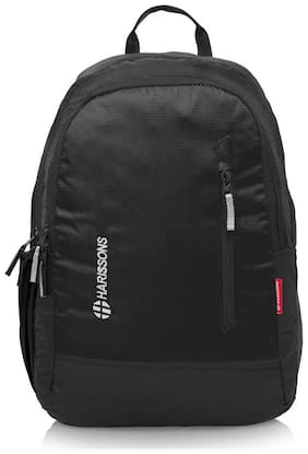 Harissons Black Waterproof Polyester Backpack