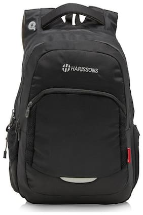 Harissons Black Polyester Backpack