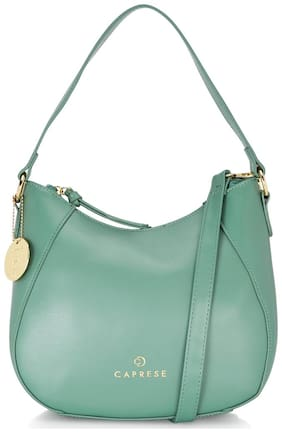 CAPRESE Green Faux Leather Hobo Bag