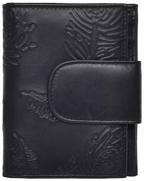 Hawaishop Women Black PU Wallet
