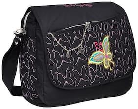 Hawaishop Women Solid Polyester - Sling Bag Black